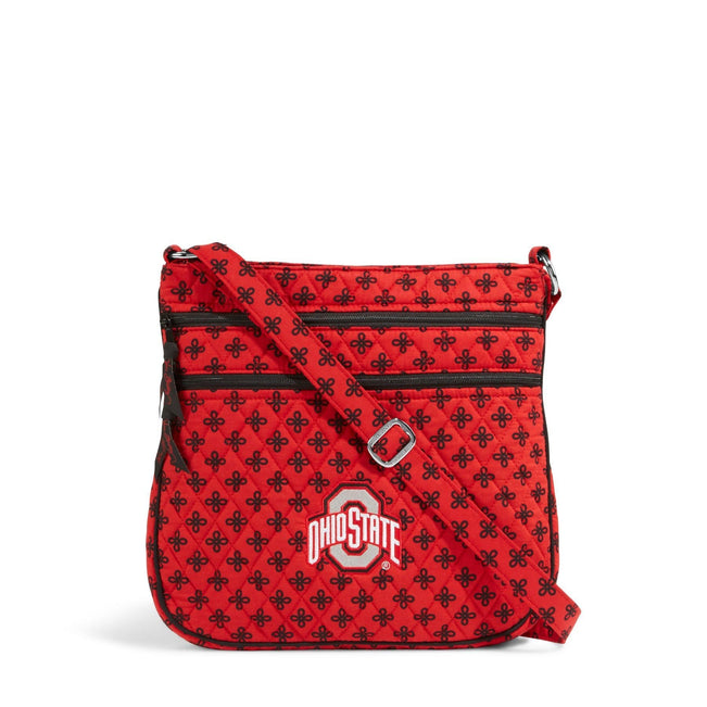 Collegiate Triple Zip Hipster Crossbody-Red/Black Mini Concerto with The Ohio State University-Image 1-Vera Bradley