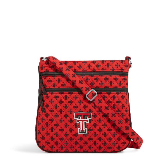 Collegiate Triple Zip Hipster Crossbody-Red/Black Mini Concerto with Texas Tech University-Image 1-Vera Bradley