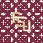 Collegiate Triple Zip Hipster Crossbody-Garnet/White Mini Concerto with Florida State University-Image 6-Vera Bradley