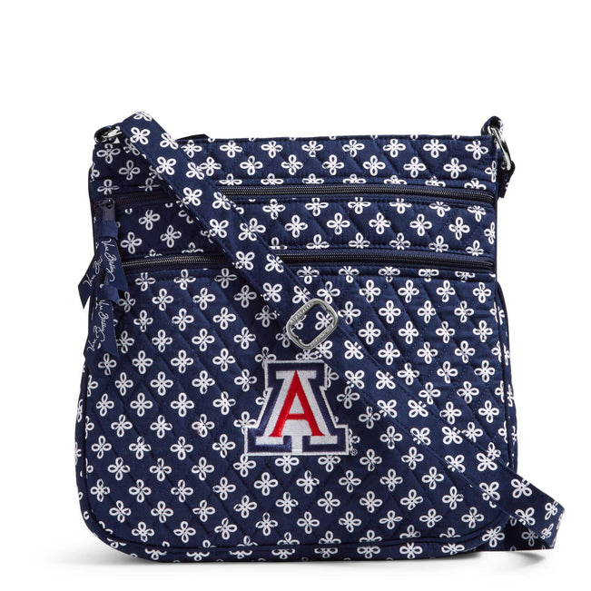 Collegiate Triple Zip Hipster Crossbody-Navy/White Mini Concerto with University of Arizona Logo-Image 1-Vera Bradley