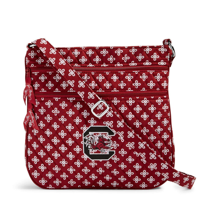 Collegiate Triple Zip Hipster Crossbody-Cardinal/White Mini Concerto with University of South Carolina-Image 1-Vera Bradley