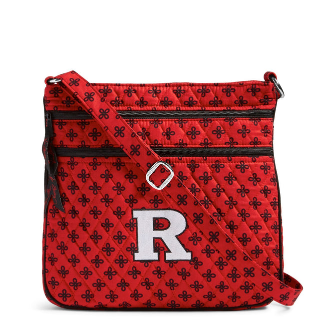 Collegiate Triple Zip Hipster Crossbody-Red/Black Mini Concerto with Rutgers University-Image 1-Vera Bradley