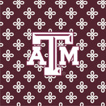 Collegiate Front Zip Wristlet-Maroon/White Mini Concerto with Texas A and M University-Image 2-Vera Bradley