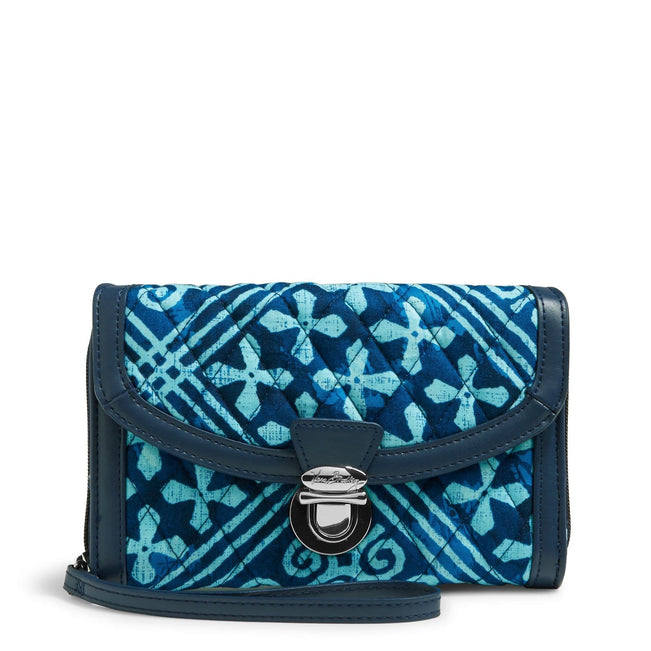 Ultimate Wristlet-Cuban Tiles with Navy-Image 1-Vera Bradley