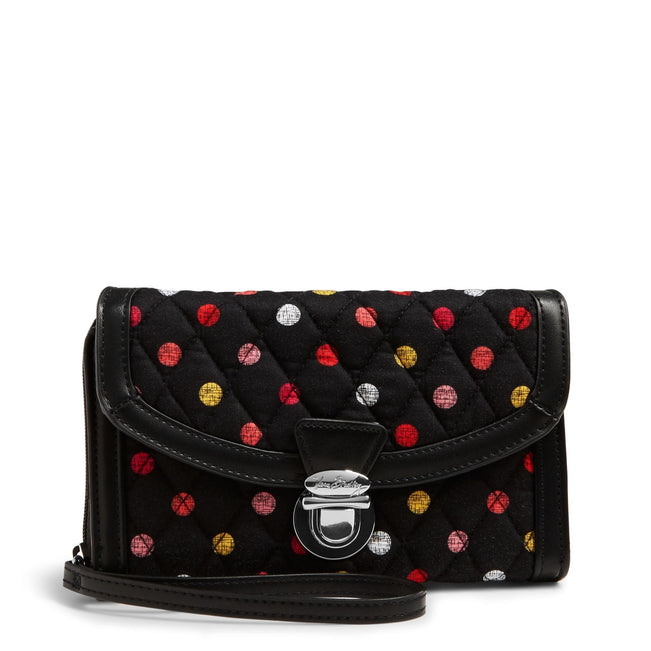 Ultimate Wristlet-Havana Dots with Black-Image 1-Vera Bradley