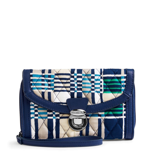 Ultimate Wristlet-Santiago Woven with Navy-Image 1-Vera Bradley