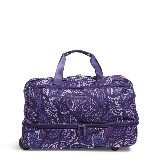 Factory Style Wheeled Carry On-Paisley Amethyst-Image 1-Vera Bradley