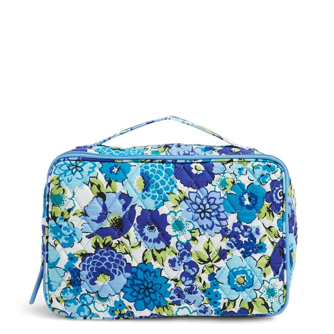 Factory Style Large Blush & Brush Makeup Case-Blueberry Blooms-Image 1-Vera Bradley