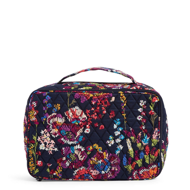 Factory Style Large Blush & Brush Makeup Case-Midnight Wildflowers-Image 1-Vera Bradley