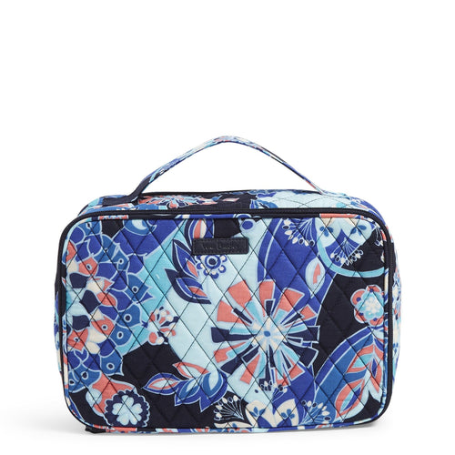 Factory Style Large Blush & Brush Makeup Case-Lotus Flower Swirl-Image 1-Vera Bradley