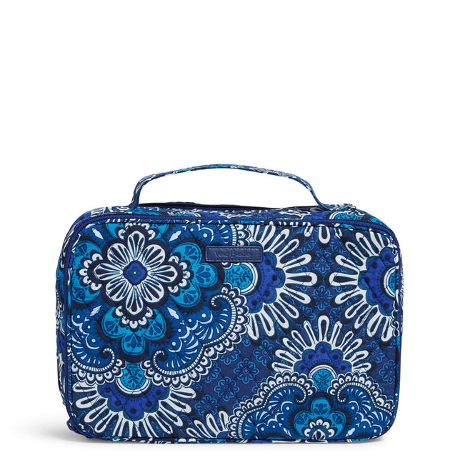 Factory Style Large Blush & Brush Makeup Case-Blue Tapestry-Image 1-Vera Bradley