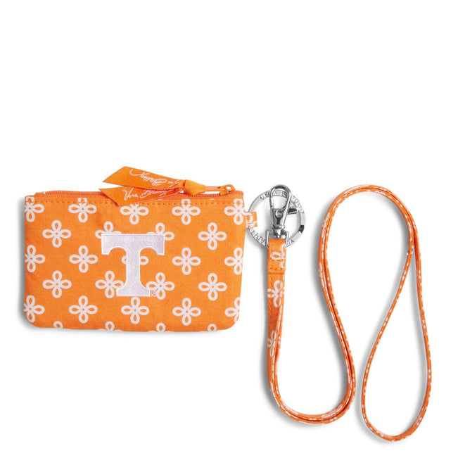 Collegiate Zip ID Lanyard-Orange/White Mini Concerto with University of Tennessee-Image 1-Vera Bradley