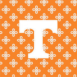 Collegiate Zip ID Lanyard-Orange/White Mini Concerto with University of Tennessee-Image 3-Vera Bradley