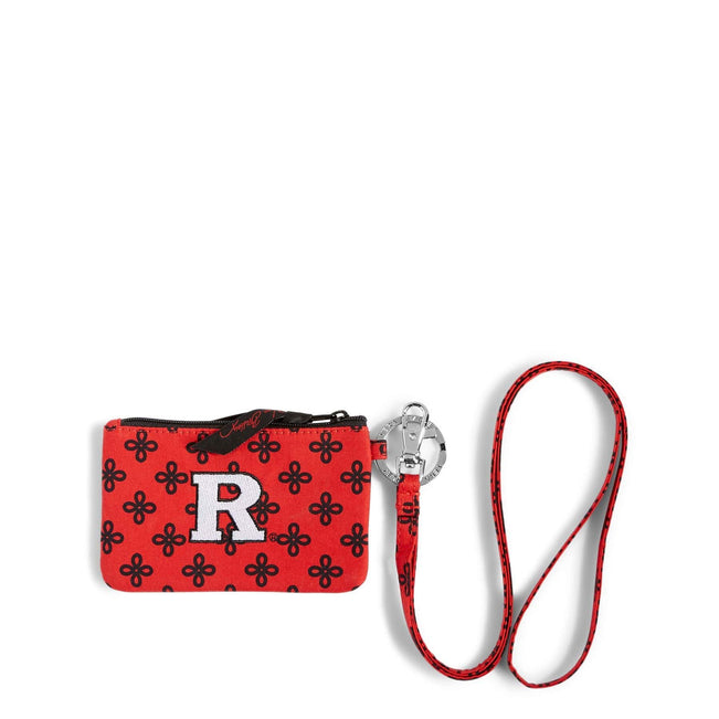 Collegiate Zip ID Lanyard-Red/Black Mini Concerto with Rutgers University-Image 1-Vera Bradley