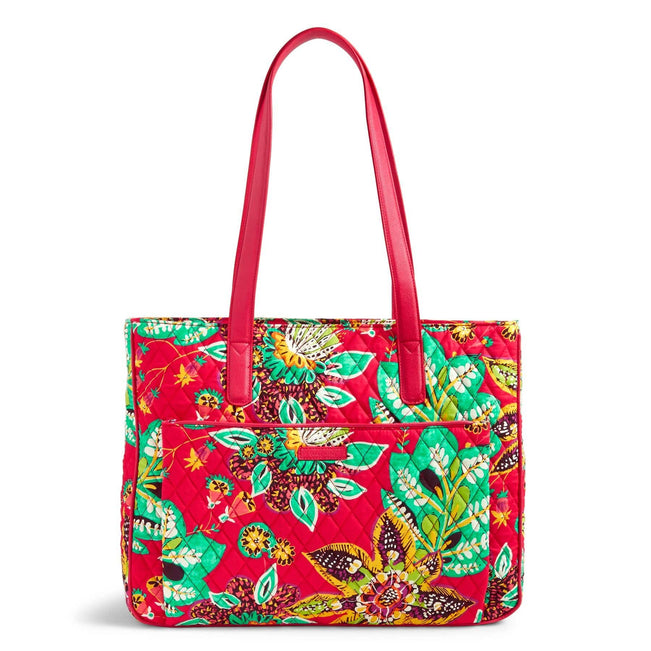 Commuter Tote Bag-Rumba with Red-Image 1-Vera Bradley
