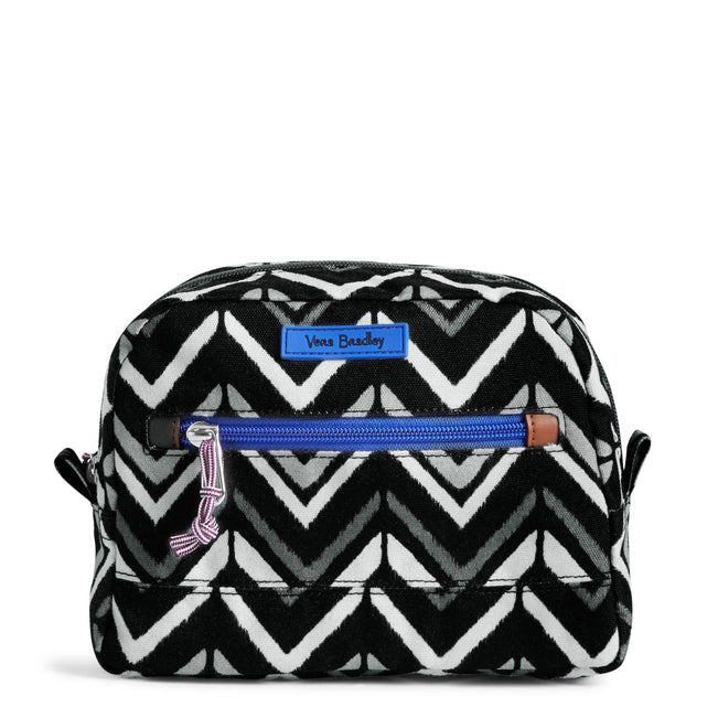 Medium Cosmetic Bag-Lotus Chevron-Image 1-Vera Bradley