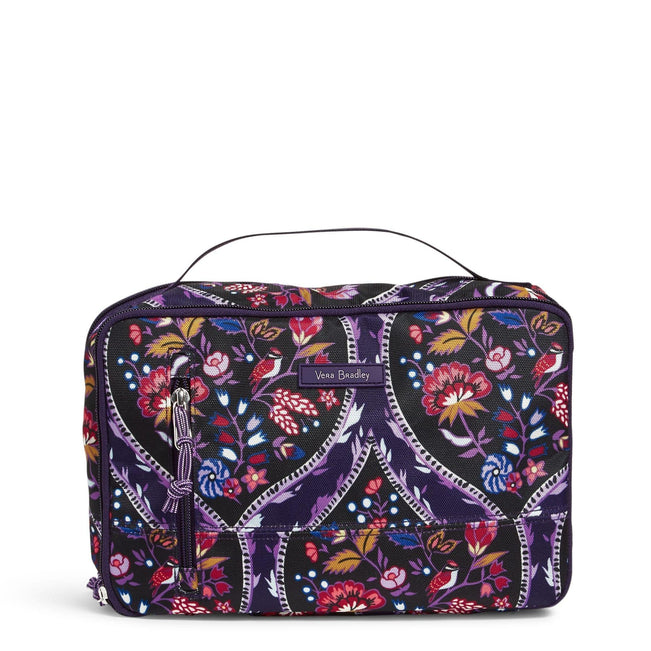 Large Blush & Brush Makeup Case-Foxwood Meadow-Image 1-Vera Bradley