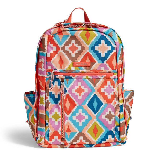Lighten Up Grand Backpack-Hacienda Diamonds-Image 1-Vera Bradley