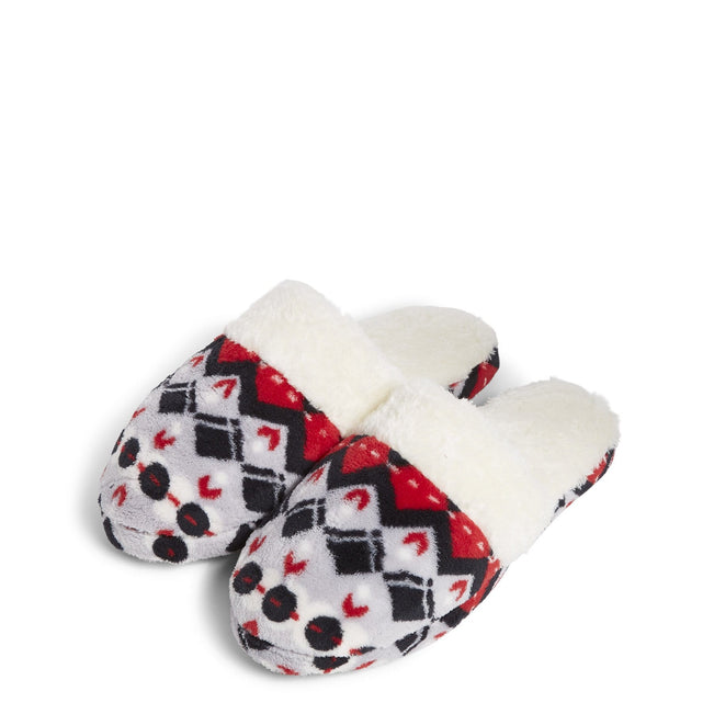 Factory Style Fleece Slippers-Penguins Intarsia-Image 1-Vera Bradley