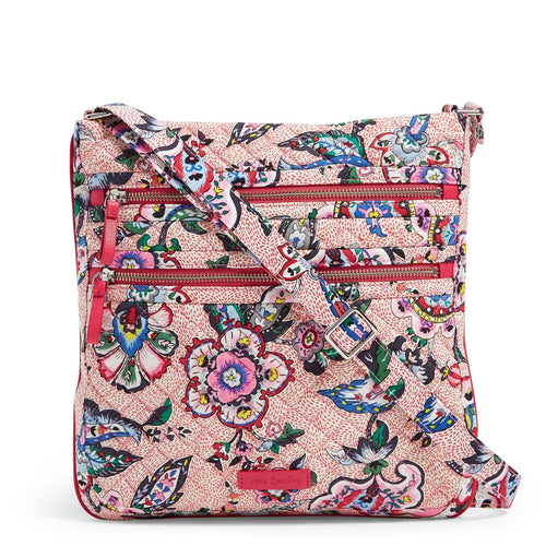 Triple Zip Hipster-Stitched Flowers-Image 1-Vera Bradley