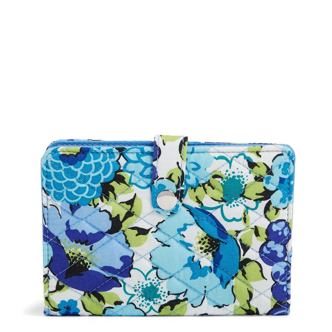 Factory Style Travel Wallet-Blueberry Blooms-Image 1-Vera Bradley