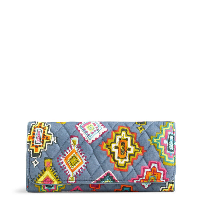 RFID Trifold Wallet-Painted Medallions-Image 1-Vera Bradley