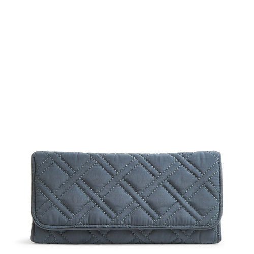 RFID Trifold Wallet-Microfiber Charcoal-Image 1-Vera Bradley
