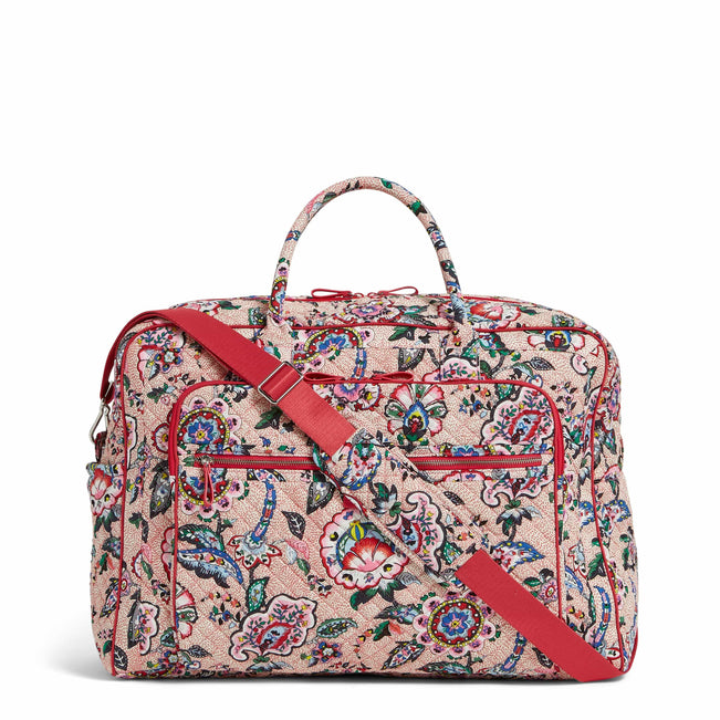 Grand Weekender Travel Bag-Stitched Flowers-Image 1-Vera Bradley
