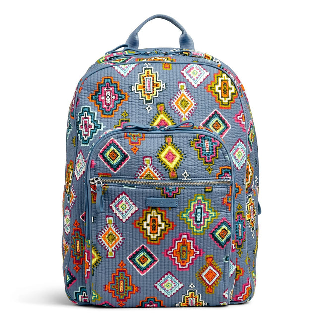 Deluxe Campus Backpack-Painted Medallions-Image 1-Vera Bradley