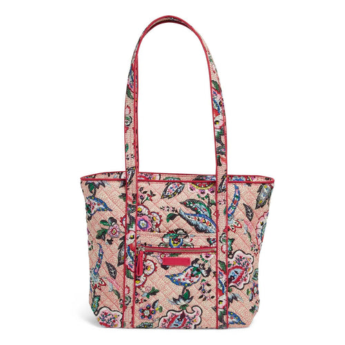 Small Vera Tote Bag-Stitched Flowers-Image 1-Vera Bradley