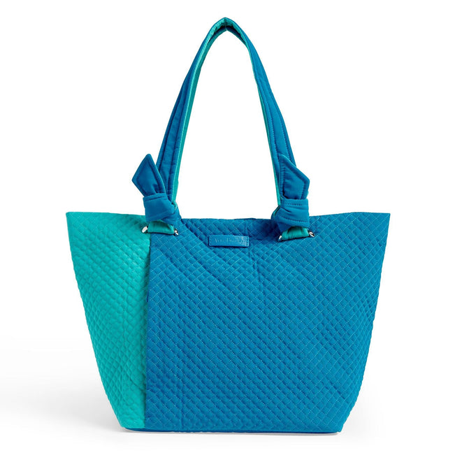 Hadley East West Tote Bag-Microfiber Bahama Bay and Turquoise Sea-Image 1-Vera Bradley