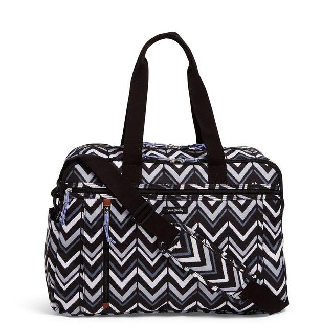 Weekender Travel Bag-Lotus Chevron-Image 1-Vera Bradley