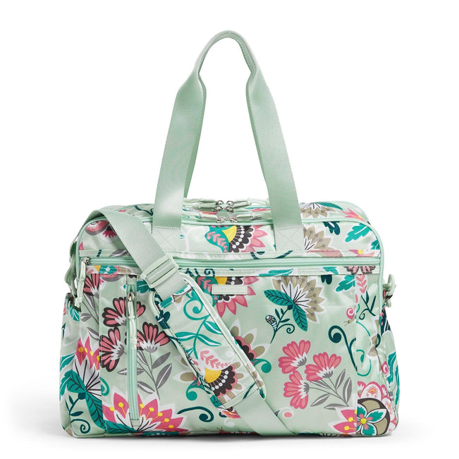 Weekender Travel Bag-Mint Flowers-Image 1-Vera Bradley