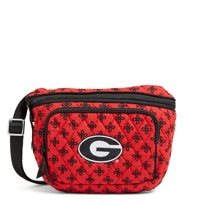Collegiate Belt Bag-Red/Black Mini Concerto with University of Georgia-Image 1-Vera Bradley