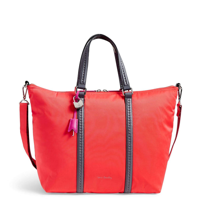 Midtown Small Tote Bag-Performance Twill Coral Reef-Image 1-Vera Bradley