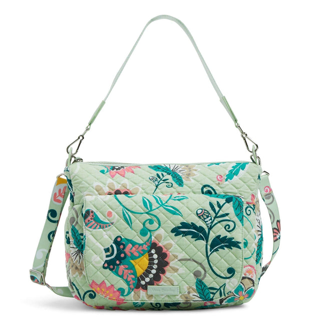 Carson Shoulder Bag-Mint Flowers-Image 1-Vera Bradley