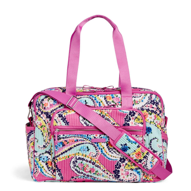 Deluxe Weekender Travel Bag-Wildflower Paisley-Image 1-Vera Bradley