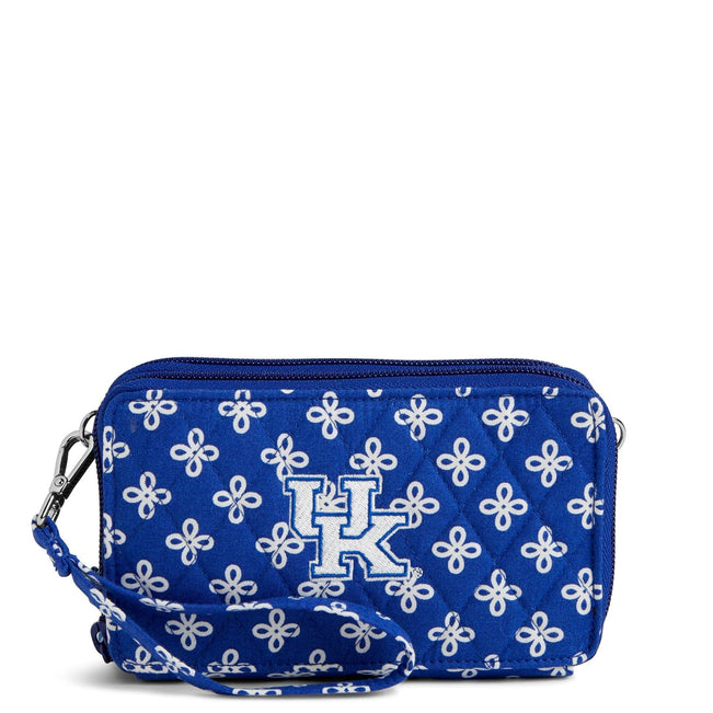 Collegiate RFID All in One Crossbody Bag-Royal/White Mini Concerto with Univeristy of Kentucky-Image 1-Vera Bradley