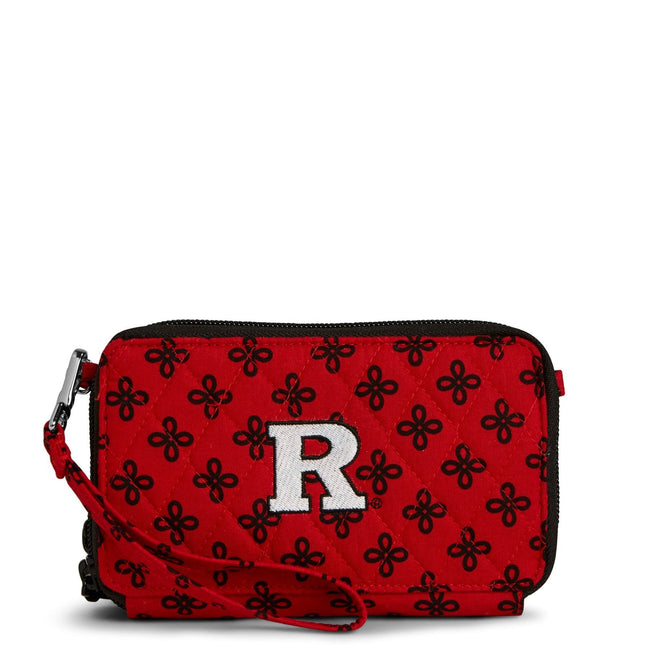 Collegiate RFID All in One Crossbody Bag-Red/Black Mini Concerto with Rutgers University-Image 1-Vera Bradley