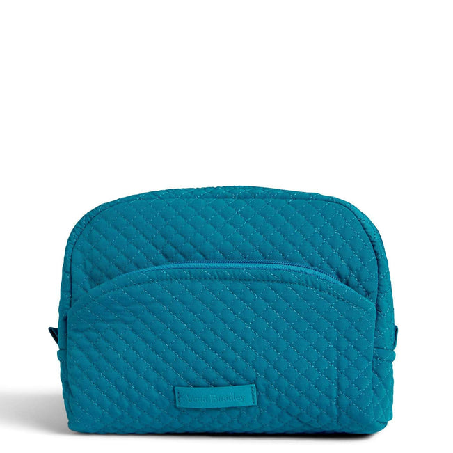 Medium Cosmetic Bag-Microfiber Bahama Bay-Image 1-Vera Bradley
