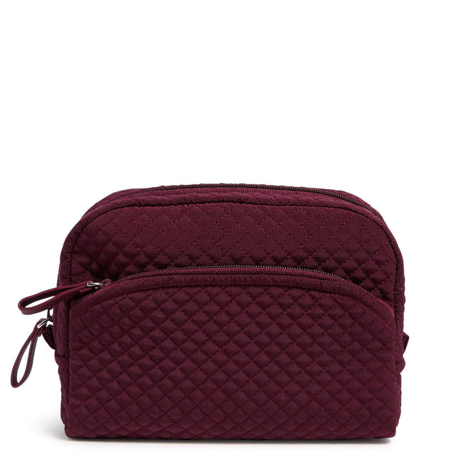 Medium Cosmetic Bag-Microfiber Mulled Wine-Image 1-Vera Bradley