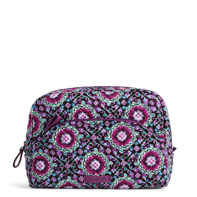 Large Cosmetic Bag-Lilac Medallion-Image 1-Vera Bradley