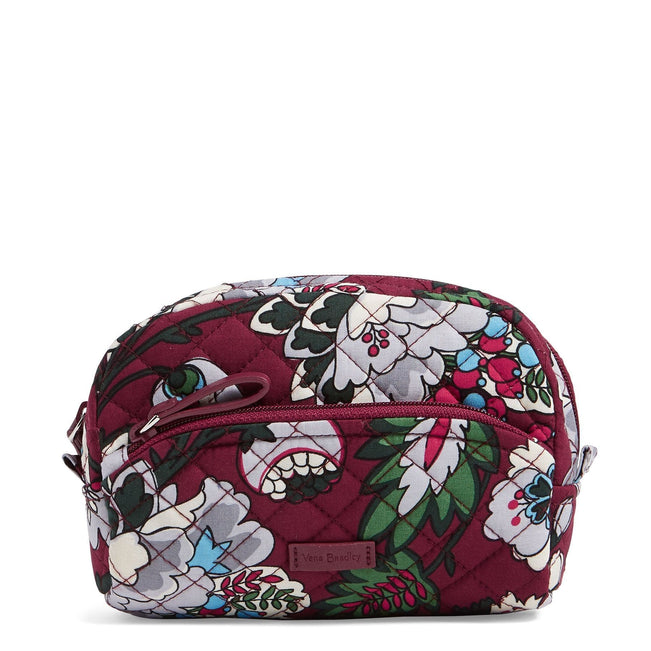 Mini Cosmetic Bag-Bordeaux Blooms-Image 1-Vera Bradley