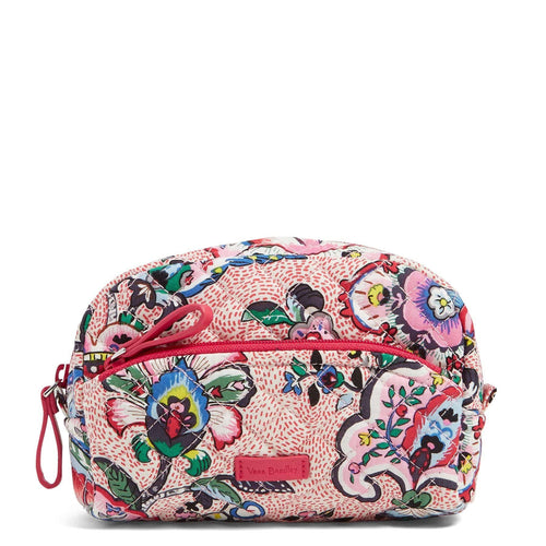 Mini Cosmetic Bag-Stitched Flowers-Image 1-Vera Bradley