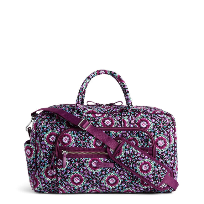 Compact Weekender Travel Bag-Lilac Medallion-Image 1-Vera Bradley