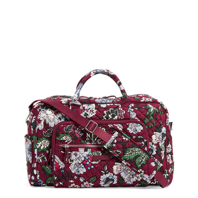 Compact Weekender Travel Bag-Bordeaux Blooms-Image 1-Vera Bradley