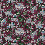 Compact Weekender Travel Bag-Bordeaux Blooms-Image 10-Vera Bradley