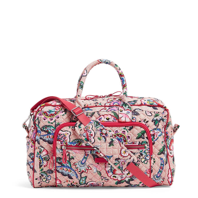 Compact Weekender Travel Bag-Stitched Flowers-Image 1-Vera Bradley