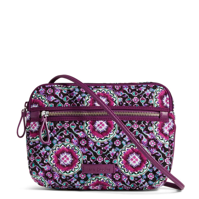 RFID Little Crossbody-Lilac Medallion-Image 1-Vera Bradley