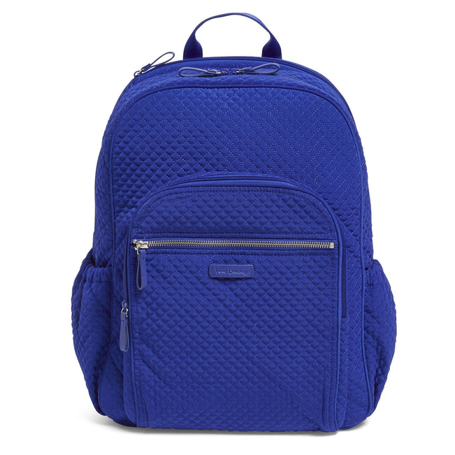 Campus Backpack-Microfiber Gage Blue-Image 1-Vera Bradley
